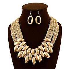 Női Ékszer készlet Függők Partedli nyakláncok Méretes ékszerek Európai luxus ékszer Divat Akril Anyag Ékszerek Naušnice Nyaklánc