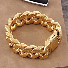 Bărbați Pentru femei Brățări cu Lanț & Legături Clasic bijuterii de lux Auriu Oțel titan Placat Auriu Bijuterii Bijuterii Pentru Nuntă