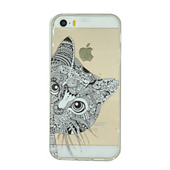 Cat Pattern Ultrathin TPU Soft Back Cover Case for iPhone 5/5S