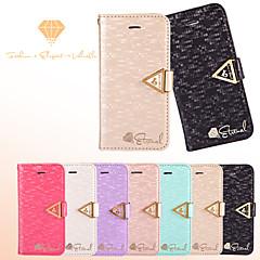 leiers®vogue væve silke læder tegnebogen bling skinnende diamant flip card slot tilfælde dække for iPhone 5 / 5s (assorterede farver)