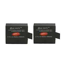 mini uśmiech ™ 1050mAh akumulator litowo-jonowy aparatu Pakiet dla sj5000 / sj5000 wi-fi / sj4000 Wi-Fi / sj4000 (2szt)