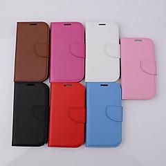 yksivärinen kortti lompakko solki aitoa nahkaa, jossa Samsung Galaxy S3 / i9300 kotelo (valikoituja väriä)
