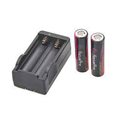 Focus Pro Battery Charger for  18650 Rechargeable Li- ion Battery(Included 2x6000mAh 4.2V)