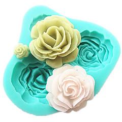 4 rozen siliconen cakevorm bakken gereedschappen keuken accessoires fondant chocolade mal sugarcraft decoratie gereedschappen