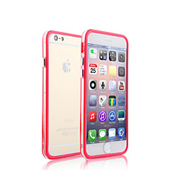 duas cores misturadas com meio transparente caso pára-choques moldura para iPhone 5 / 5s (cores sortidas)