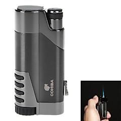 High-Grade Titanium Material Windproof Inflatable Flame Lighter & Cigar Punch(Assorted Colors)