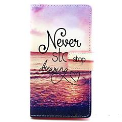 For Nokia etui Pung Kortholder Med stativ Etui Heldækkende Etui Ord / sætning Hårdt Kunstlæder for NokiaNokia Lumia 830 Nokia Lumia 640