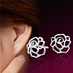 Sterling Silver Earring Stud Earrings Wedding/Party/Daily/Casual (1pair)
