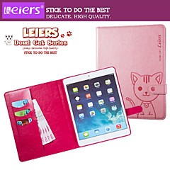 LEIERS® Domi Cat Magnetic Flip Leather Cover Wallet Card Slot Case Stand for iPad 2/3/4 (Assorted Colors)