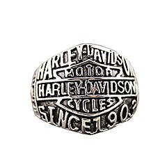 "Retro Ren's Titanium Steel Ring with""HARLEY-DAVIDSON SINCE 1903""(1PCS)"