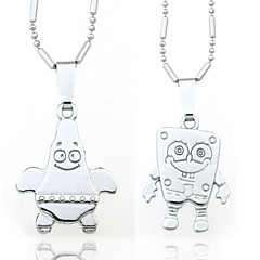 Necklace Pendant Necklaces Jewelry Wedding / Daily / Casual Alloy Silver 2pcs Gift