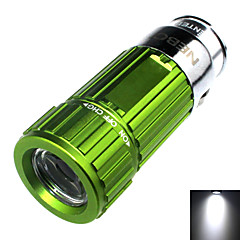 Zhishunjia Rechargeable 1-Mode 1x LED Mini Car Charger LED Flashlight (60lm , 4xCR2032 , Green)
