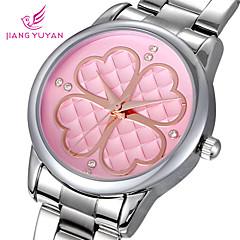 Newest Elegant Famous Brand Clover Women Quartz Steel Rhinestone Watch Fashion Casual Watch For Women Wristwatch