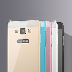 Metal Frame Acrylic Mirror Backplane Metal Hard Case for Samsung Galaxy A5 (Assorted Colors)