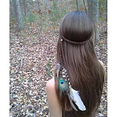 Feather Headband, Bohemian Headband, Native American, Braided Headband, Indian Headband, Hippie Headband