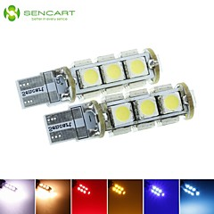 T10  149  W5W 3.5W  Blue/Red/Warm White/Green/Yellow/White 13X5050SMD LED 140LM   for Car Light Bulb  (DC12-16V)