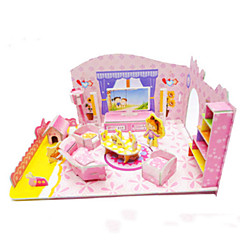 DIY Pink Girl's Bedroom Shaped 3D Puzzle