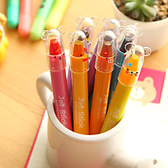 12 Color Jelly Solid Rotary Fluorescent Pen(Random Color)