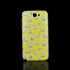 słonie pokrywę wzór fo Samsung Galaxy Note 2 n7100 przypadku