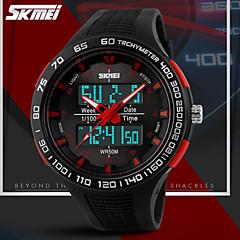 שעוני ספורט - שך גברים - אנלוגי-דיגיטלי - קווארץ ( LCD/לוח שנה/כרונוגרף/עמיד למים/אזור זמן כפול/אזעקה )