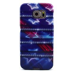 model stea violet TPU caz moale pentru Samsung Galaxy s6
