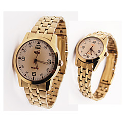 Pair of Alloy Analog Quartz Wrist Watches