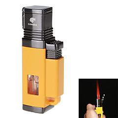 Art und Weise hochwertige winddicht aufblasbaren vier Flame Feuerzeug&Zigarrenbohrer