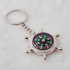 Unisex Alloy Casual Keychain Creative Compass Key Chains
