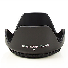 MENGS® 55mm Universal Flower Shape Lens Hood Sanp Screw Mount Petal Crown For Canon Nikon Sony Fuji Olympus Etc Camera.