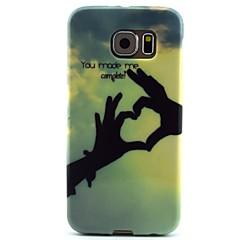 gestul de model cer TPU caz moale pentru Samsung Galaxy s6