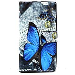 Voor Nokia hoesje Portemonnee / Kaarthouder / met standaard hoesje Volledige behuizing hoesje Vlinder Hard PU-leer Nokia Nokia Lumia 830