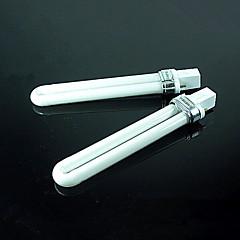 4pcs arte chiodo 9W fototerapia tubi della lampada elettrone tubi lampada / uv elettroni
