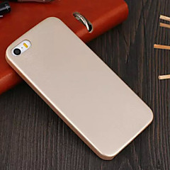 materiale di cuoio e pc morbido guscio protettivo sottile per iPhone 5 / 5s (colori assortiti)