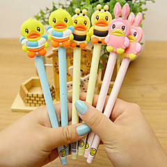 Cute Plastic/Silicone Gel Pens(Random Color)