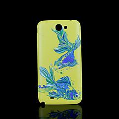 cobertura padrão de peixe fo samsung galaxy note 2 N7100 caso