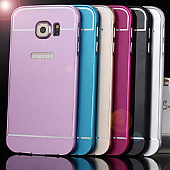 For Samsung Galaxy etui Stødsikker Etui Bagcover Etui Helfarve Akryl for Samsung S6 edge