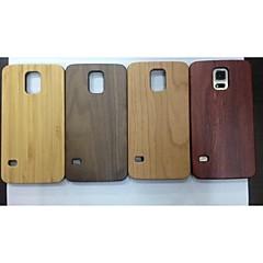 madeira natural de bambu de madeira real de cobertura caso difícil para Samsung Galaxy i9600 s5 cores sortidas