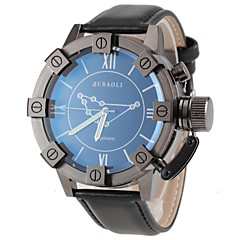 JUBAOLI® Men's Capricorn Pattern Black Leather Band Quartz Wrist Watch Cool Watch Unique Watch