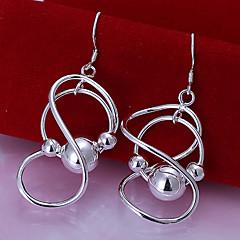 Lureme® Fashion 925 Silver Plated Figure Eight Knot Shape Beads Drop Earrings
