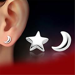 Earring Stud Earrings Jewelry Women Wedding / Party / Daily / Casual Silver / Sterling Silver 2pcs Silver