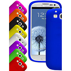 BIG D Silica Gel Soft Case for Samsung Galaxy S3 I9300(Assorted Colors)