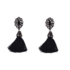 Earring Drop Earrings Jewelry Women Wedding / Party / Daily / Casual / Sports Alloy / Resin / Rhinestone / Fabric 2pcs