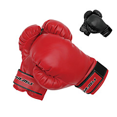 Winmax® Adult Black/Red PU Professional Training Boxing Gloves(Weight:10 oz)