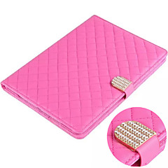 Grid Pattern PU Leather Smart Covers/Folio Cases for iPad 2/iPad 3/iPad 4 (Assorted Colors)