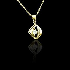 18k oro verdadero plateado colgante 1.6 * 2.8cm