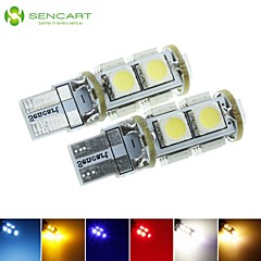 T10  149  W5W LED 2.5W  Blue/Red/Warm White/Green/Yellow/White 9X5050SMD 120LM   for Car Light Bulb  (DC12-16V)