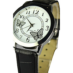 Women's Butterfly Pattern PU Band Quartz Analog (Assorted Colors) Cool Watches Unique Watches
