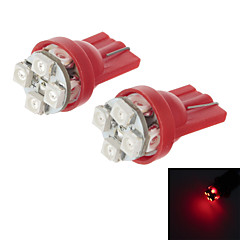 HY T10 0.8W 80lm 700nm 8-SMD 3020 LED Red Light Car Steering Lamps (2 PCS)