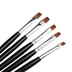 5 PCS Nail Art Polish Painting Brushes Set Color Black #0105001