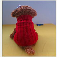Perros Suéteres Rojo / Azul / Marrón Invierno Un Color